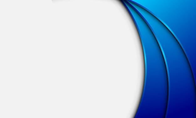 Streszczenie niebieski gradient zakrzywione kształty na białym tle. nowoczesny design twojej strony internetowej.