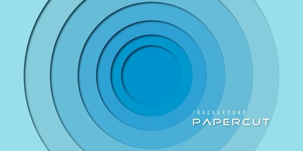 Streszczenie niebieski papier wyciąć koło backgorund