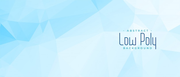 Streszczenie niebieski projekt geometryczny transparent low poly