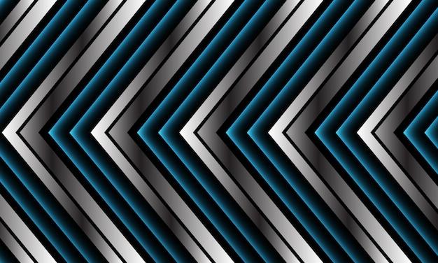 Streszczenie niebieski srebrny czarny metaliczny strzałka kierunek nowoczesny luksus futurystyczny