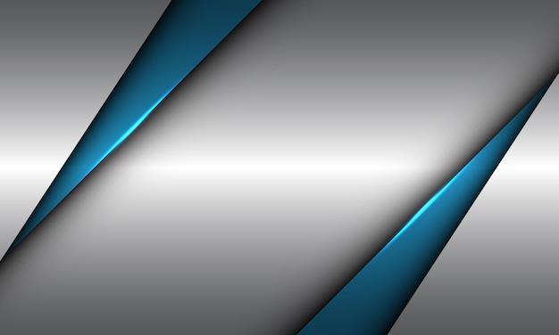 Streszczenie niebieski trójkąt srebrny pusta przestrzeń geometryczny wzór nowoczesny luksusowy futurystyczny tło