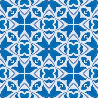 Streszczenie niebieskie kwiaty wzór.