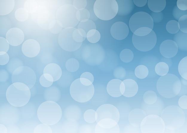 Streszczenie niebieskie światła bokeh efekt tła.