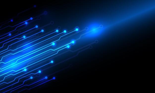 Streszczenie niebieskie światło linii obwodu technologii energii z pustą przestrzeń projektowania nowoczesne futurystyczne tło