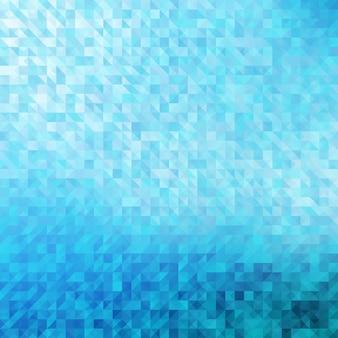 Streszczenie, niebieskie tło geometryczne.