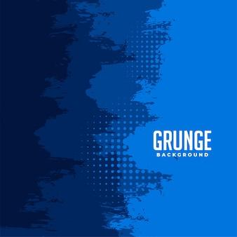 Streszczenie niebieskie tło grunge półtonów