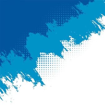 Streszczenie niebieskie tło grunge z efektem półtonów