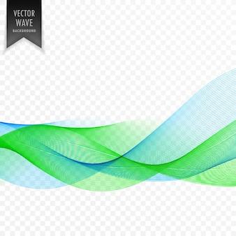 Streszczenie niebieskim i zielonym tle fali wektorowej