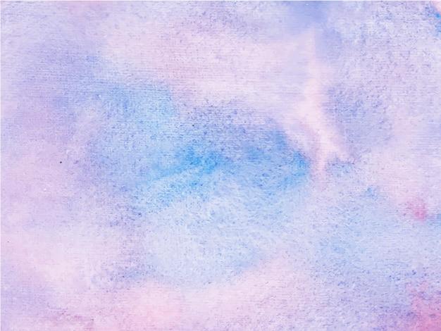 Streszczenie niebieskim tle akwarela tekstury fioletowy. to jest wyciągnięta ręka.