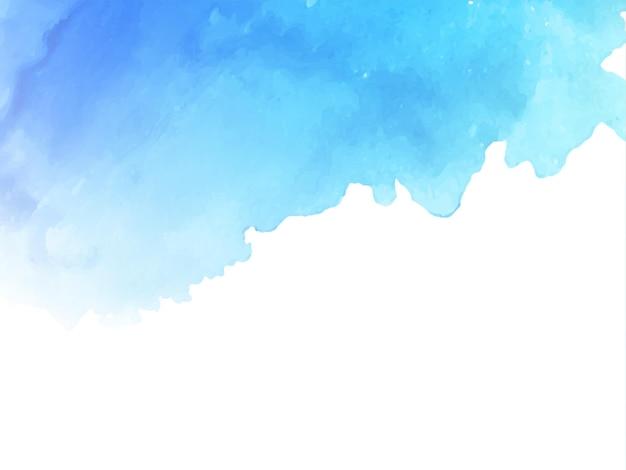 Streszczenie niebieskim tle akwarela