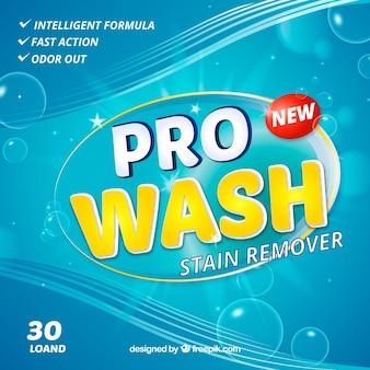 Streszczenie niebieskim tle detergentu