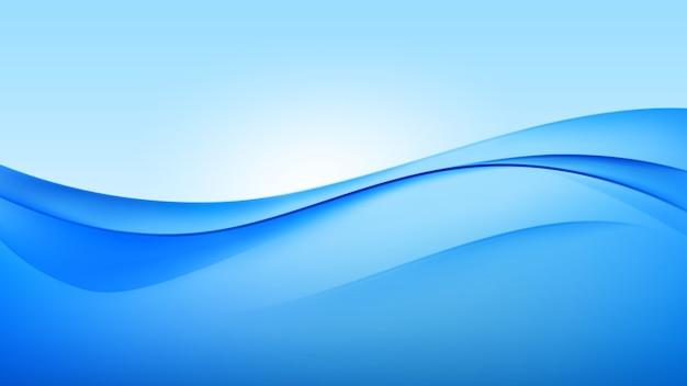 Streszczenie niebieskim tle fali