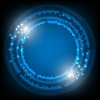 Streszczenie niebieskim tle futurystycznym.