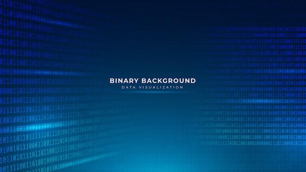 Streszczenie niebieskim tle kodu binarnego