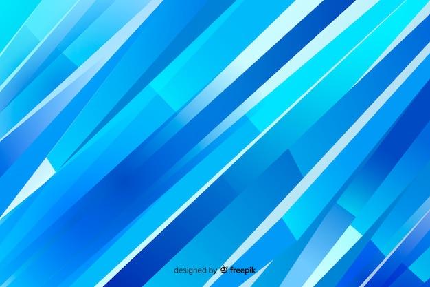 Streszczenie niebieskim tle kształtów