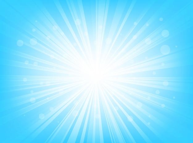 Streszczenie niebieskim tle promieniowe linie