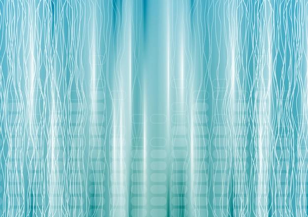 Streszczenie niebieskim tle technika z liniami. projekt wektorowy