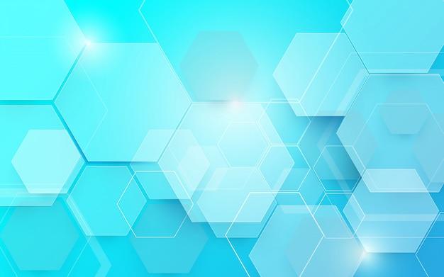 Streszczenie niebieskim tle technologii