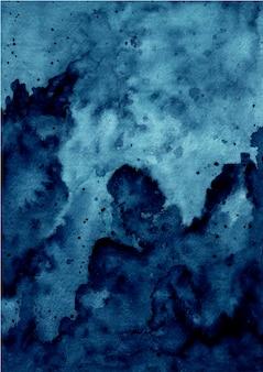 Streszczenie niebieskim tle tekstury akwarela