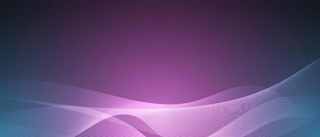 Streszczenie niebiesko-fioletowa technologia fala projektowania sieci cyfrowej tła wektor komunikacji