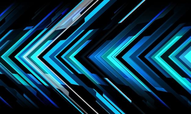 Streszczenie niebiesko-szara czarna metaliczna strzałka obwód cyber geometryczny kierunek nowoczesna technologia futurystyczna styl tła