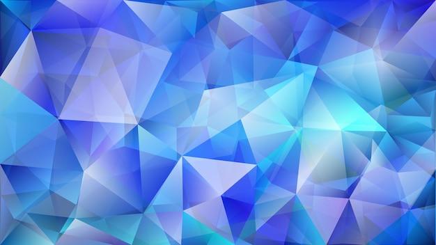 Streszczenie niskie wielokątne tło dwóch warstw trójkątów w kolorach niebieskim
