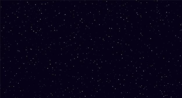 Streszczenie nocne niebo, białe błyszczy na ciemnoniebieskim tle.