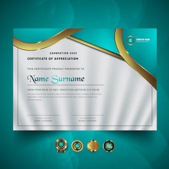 Streszczenie nowego szablonu nagrody certyfikatu