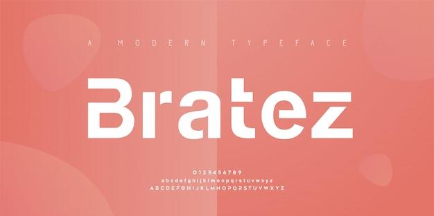 Streszczenie nowoczesne czcionki miejskiego alfabetu. typografia sport, prosta, technologia, moda, cyfrowa, przyszłościowa kreatywna czcionka z logo. ilustracja