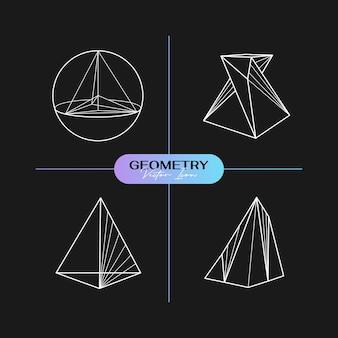 Streszczenie nowoczesne geometryczne ikony w modnym stylu.