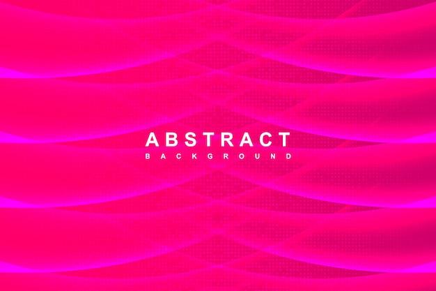 Streszczenie nowoczesne gradientowe różowe i fioletowe tło z dekoracją falistego cienia