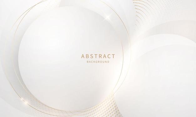 Streszczenie nowoczesne koło sztuki tło luksusowe białe złoto nowoczesne