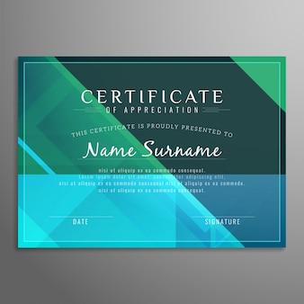 Streszczenie nowoczesne kolorowe tło certyfikatu