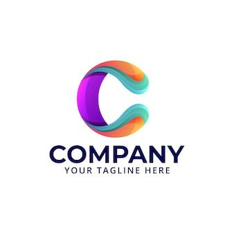 Streszczenie nowoczesne logo litery c