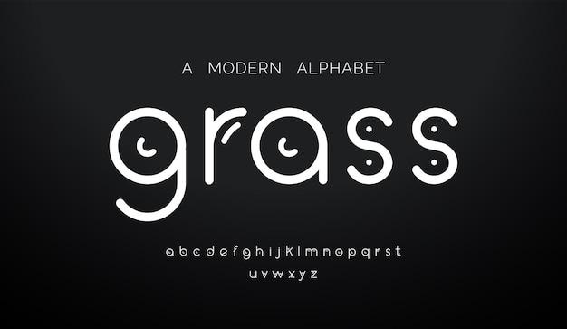 Streszczenie nowoczesne minimalne czcionki alfabetu.