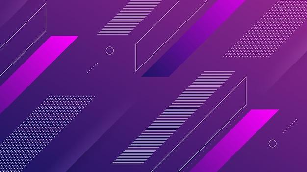 Streszczenie nowoczesne tło z intensywnością ciemnego niebieskiego i fioletowego koloru gradientu i elementu memphis