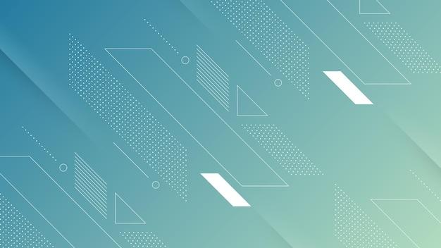 Streszczenie nowoczesne tło z miękkim jasnoniebieskim gradientem koloru i elementem memphis