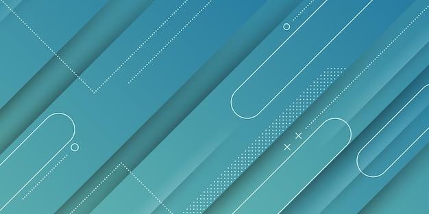 Streszczenie nowoczesne tło z niebieskim gradientem pastelowy kolor i kwadratowy kształt elementu
