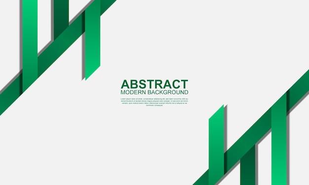 Streszczenie nowoczesne tło z zielonymi paskami ilustracji wektorowych