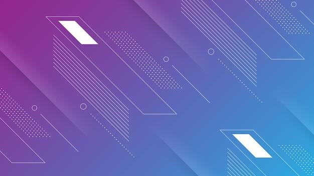 Streszczenie nowoczesne tło z żywym fioletowym niebieskim gradientem koloru i elementem memphis