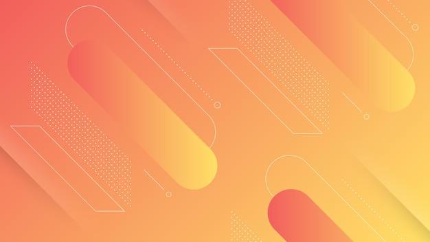 Streszczenie nowoczesne tło z żywym gradientem kolorów i elementem memphis