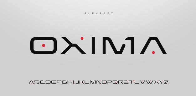Streszczenie nowoczesnej czcionki alfabetu wielkimi literami