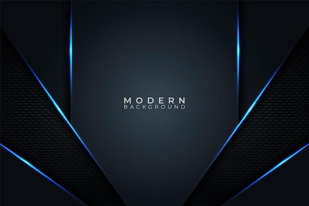 Streszczenie nowoczesnej futurystycznej technologii transparent niebieski blask w ciemnym tle