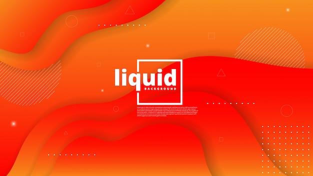Streszczenie nowoczesny element graficzny. dynamiczne kolorowe formy i fale. gradientowy abstrakcjonistyczny tło z płynąć ciekłych kształty
