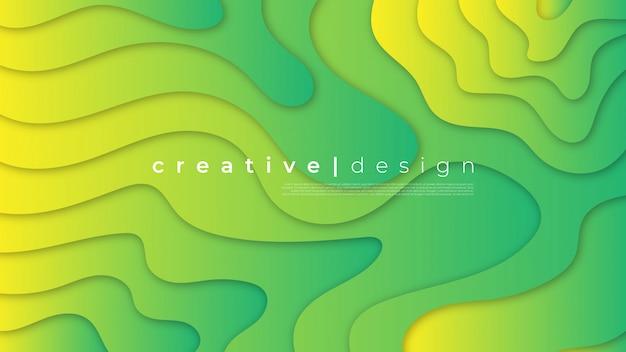 Streszczenie nowoczesny element graficzny. dynamiczne kolorowe tło formy i fale