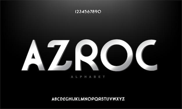 Streszczenie nowoczesny miejski alfabet czcionki. technologia typografii, elektroniczny, film, cyfrowy, muzyka, przyszłość, czcionka kreatywna logo.