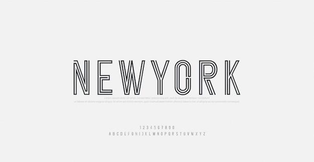 Streszczenie nowoczesny miejski alfabet czcionki