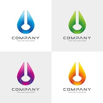 Streszczenie nowoczesny projekt logo