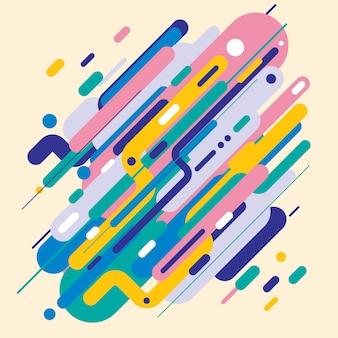 Streszczenie nowoczesny styl z kompozycji zaokrąglone kształty