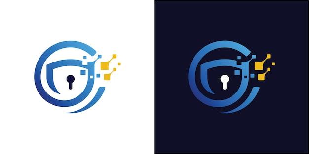 Streszczenie nowoczesny szablon logo litery c